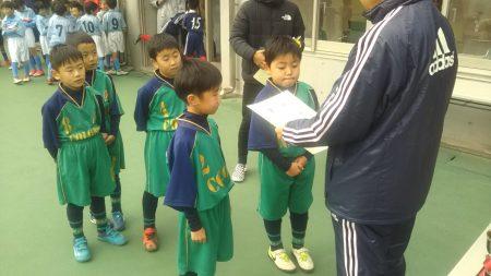 12/2(日)2年生秋季リーグ表彰式